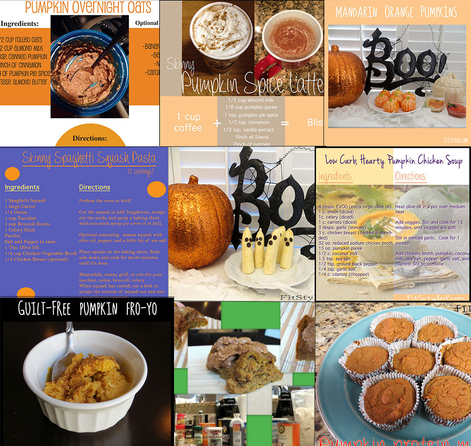 FitStyled Healthy Halloween Menu Montage