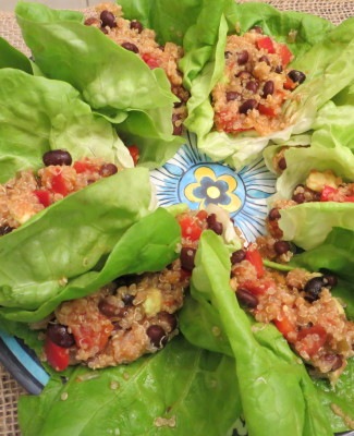 Black Bean and Quinoa Lettuce Wraps